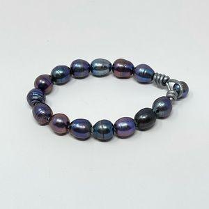 New Free People Tahitian Pearl Leather Bracelet